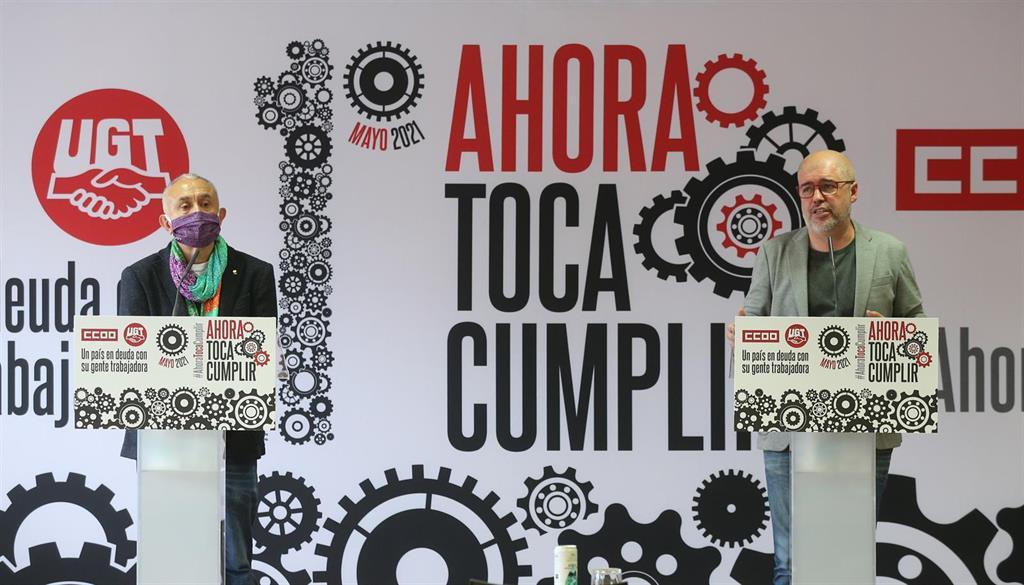 CCOO y UGT volverán a las calles el 1 de Mayo para pedir mejoras en el mercado laboral