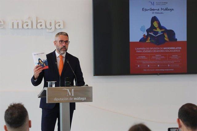 Juan Carlos Maldonado, vicepresidente primero de la Diputación de Málaga, en rueda de prensa