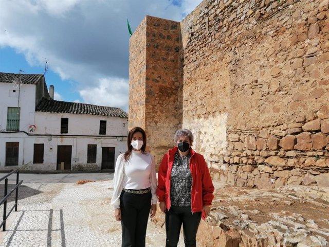 Visita de la delegada de Turismo a Cumbres de San Bartolomé.