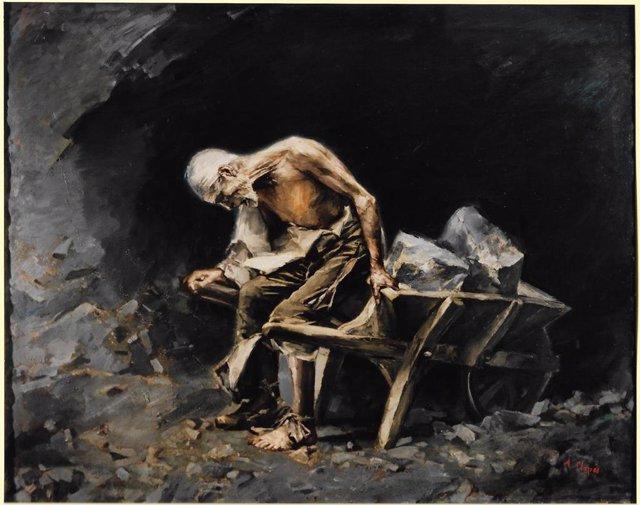 La obra 'El peó' (El peón) estaba desaparecida y se puede visitar en el Palau Güell en el marco de la exposición retrospectiva sobre el artista hasta el 30 de mayo