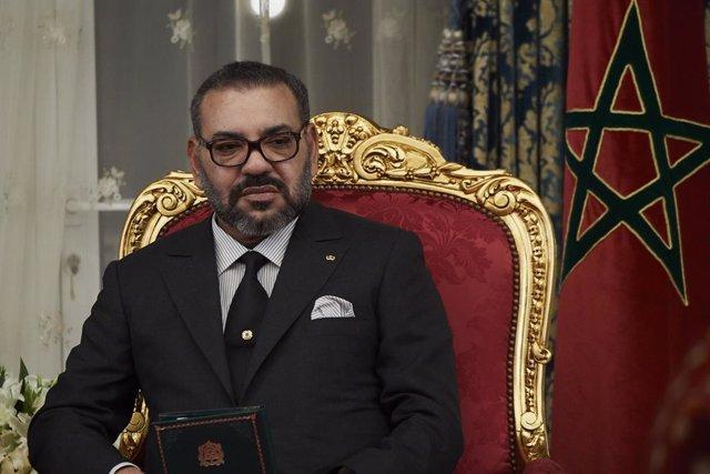 Archivo - El rey de Marruecos, Mohamed VI