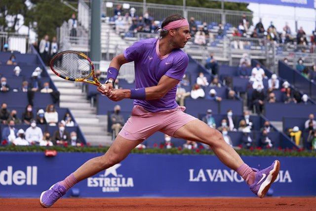 El tenista español Rafa Nadal en su victoria sobre Kei Nishikori en los octavos de final del Barcelona Open Banc Sabadell 2021