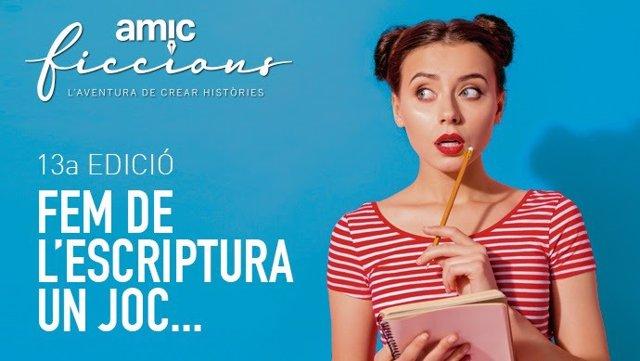 Cartell de la XIII edició del concurs literari Amic-Ficcions