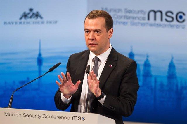 Archivo - El vicepresidente del Consejo de Seguridad de Rusia, Dimitri Medvedev