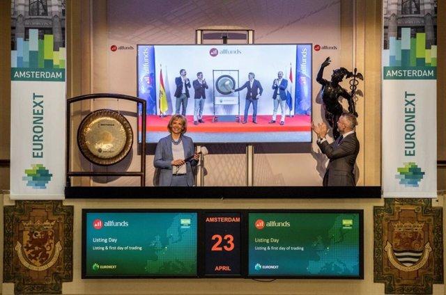 Allfunds debuta en el parqué de Amsterdam con subidas del 18%