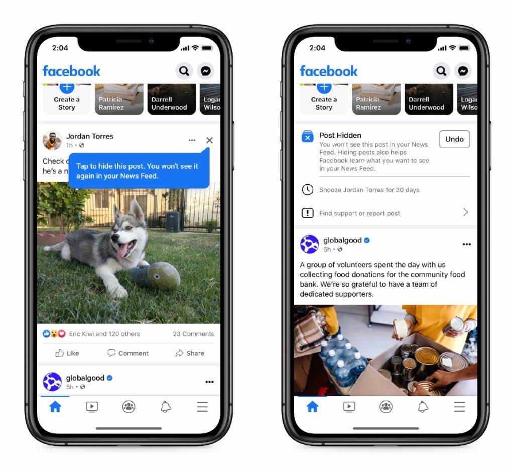 Facebook preguntará a los usuarios por las publicaciones que no quieren ver en el 'newsfeed'