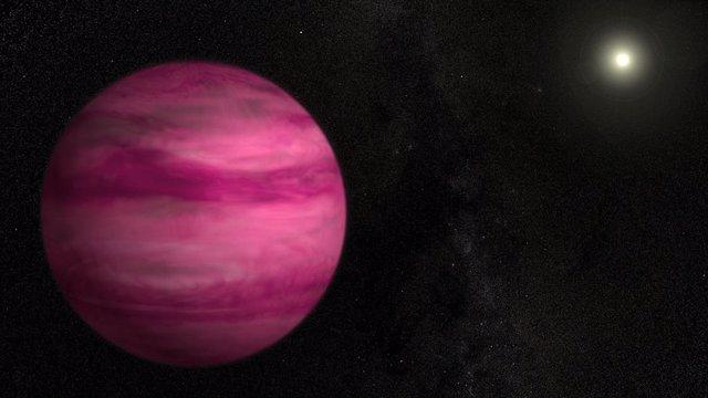 Este exoplaneta, un gigante gaseoso llamado GJ 504b, está a unos 57 años luz de la Tierra. Los exoplanetas como este pueden ayudar a los investigadores a encontrar y medir la materia oscura.