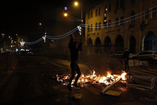 Imagen de archivo de las protestas en Jerusalén Este.