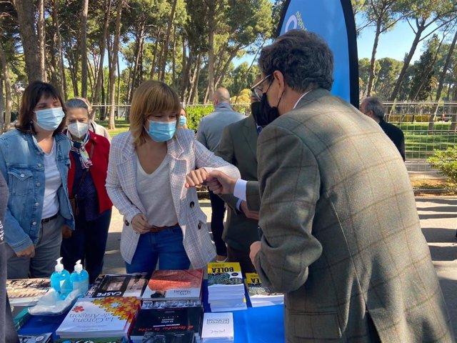 La delegada del Gobierno en Aragón, en la celebración del Día del Libro