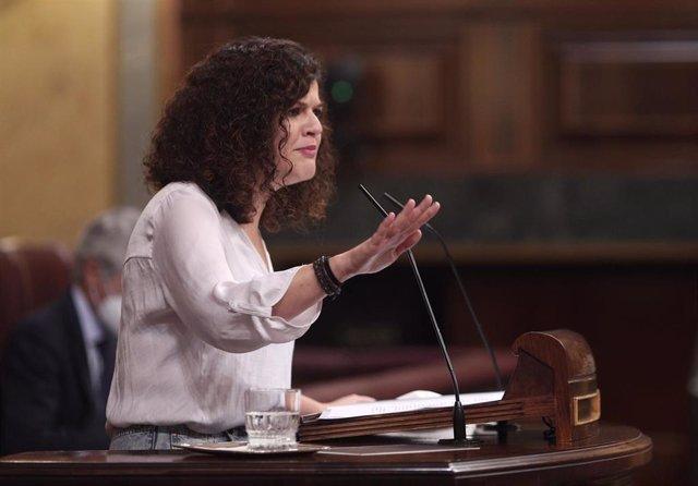 Archivo - La portavoz adjunta de Unidas Podemos en el Congreso, Sofía Castañón