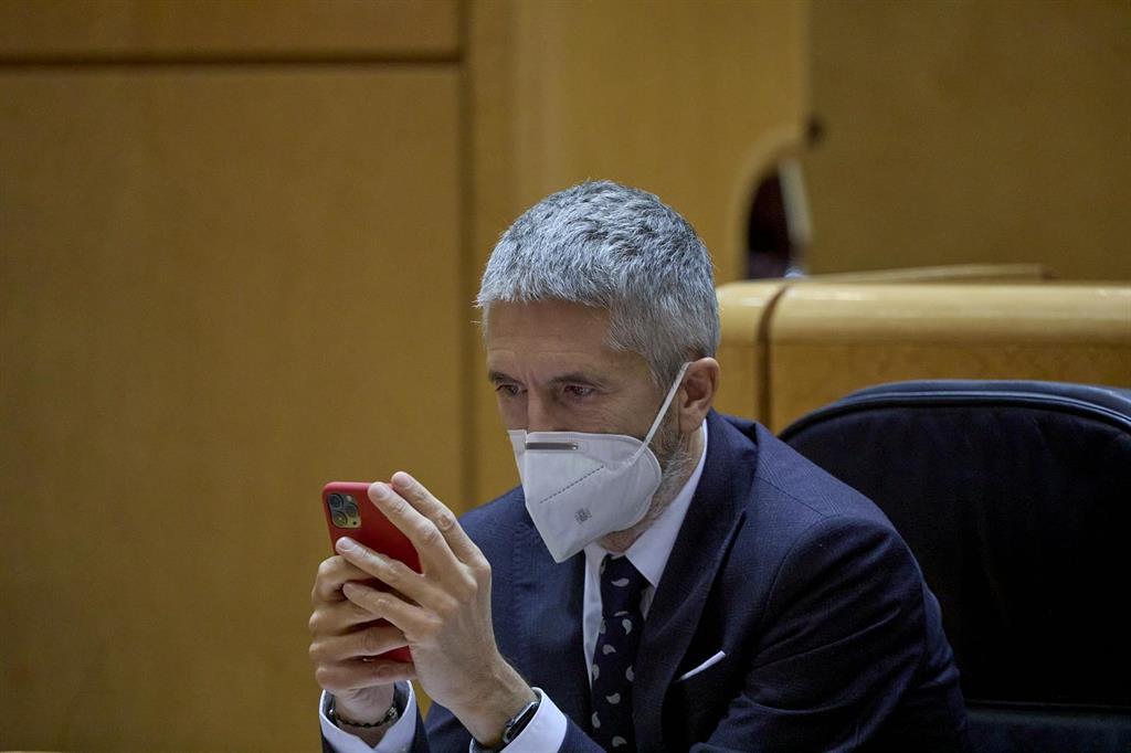 """Marlaska, sobre las cartas amenazantes con balas: """"Hay manifestaciones groseras que generan un sistema de riesgo"""""""