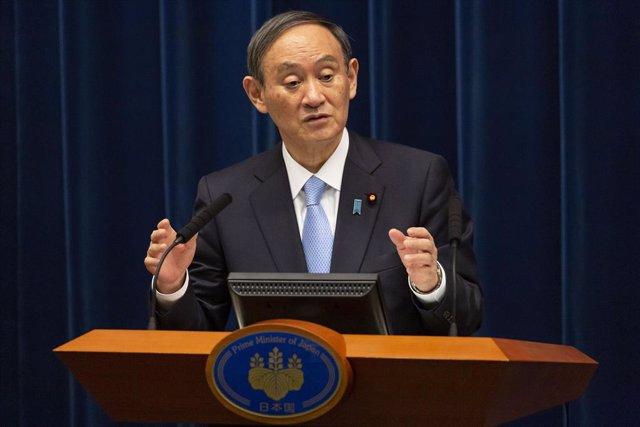 Archivo - El primer ministro de Japón, Yoshihide Suga.