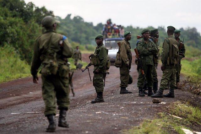 Archivo - Soldados del Ejército de República Democrática del Congo (RDC)