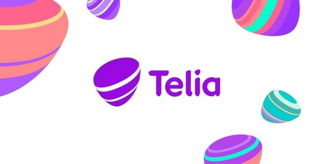 Archivo - Logo de la teleco sueca Telia.