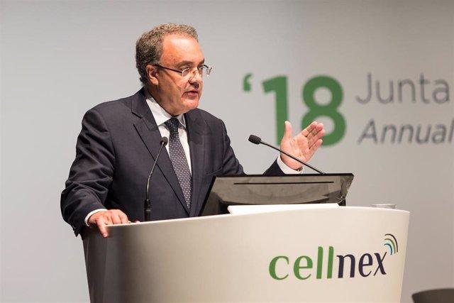 Archivo - Tobías Martínez, consejero delegado de Cellnex, en una imagen de archivo