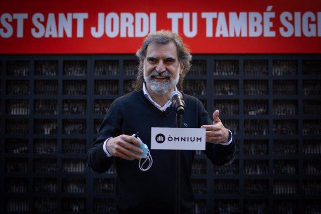 Jordi Cuixart, en l'acte d'Òmnium per Sant Jordi.