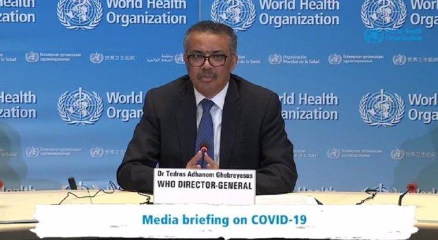 Archivo - El director general de la Organización Mundial de la Salud (OMS), Tedros Adhanom Ghebreyesus, ha destacado la desaceleración de los casos de coronavirus que está ocurriendo en algunos países europeos, como España, Italia, Francia o Alemania.