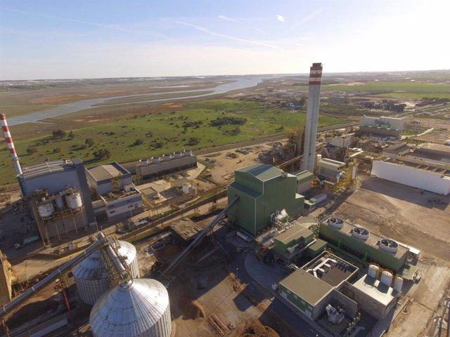 Archivo - Vista general de la planta de Ence en Huelva.