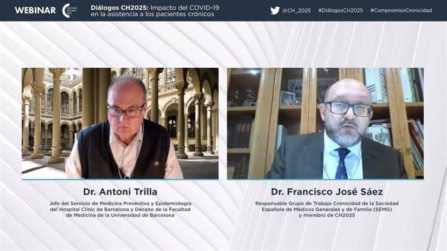 Los doctores Antoni Trilla y Francisco José Sáez