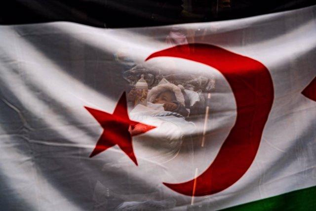Archivo - Protesta en Madrid por la autodeterminación del Sáhara Occidental