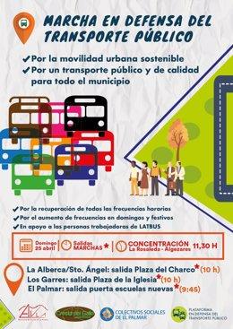 Cartel de la movilización de este domingo