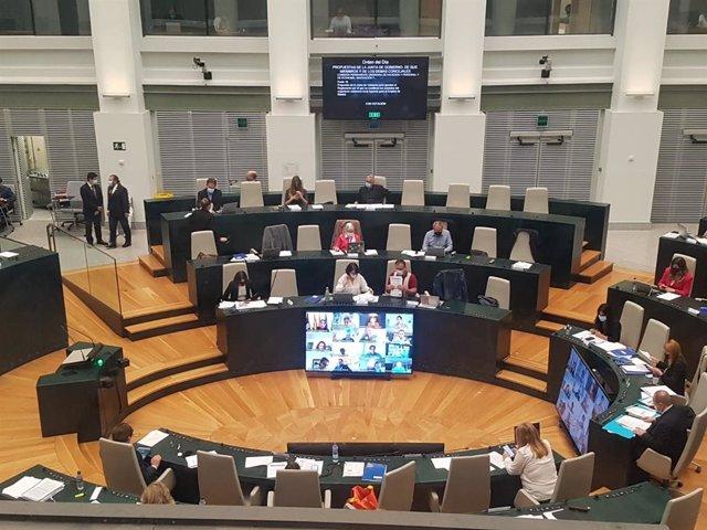 Pleno en Cibeles del Ayuntamiento de Madrid