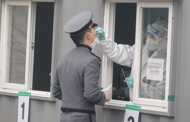 Prueba de coronavirus en Seúl