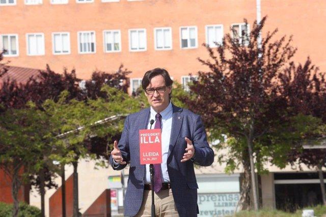 El candidat del PSC a la Presidència de la Generalitat, Salvador Illa.