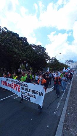 La marcha recorre A Coruña