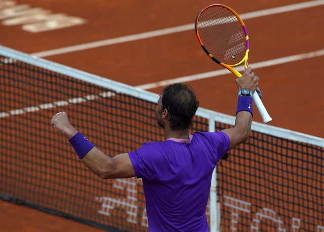 BARCELONA, SPAIN - APRIL 24:  Rafa Nadal of Spain.ATP Barcelona Open Banc Sabadell at the Real Club de Tenis Barcelona on April 17, 2021 in Barcelona, Spain. (Photo by Sergio Carmona/Quality Sport Images)