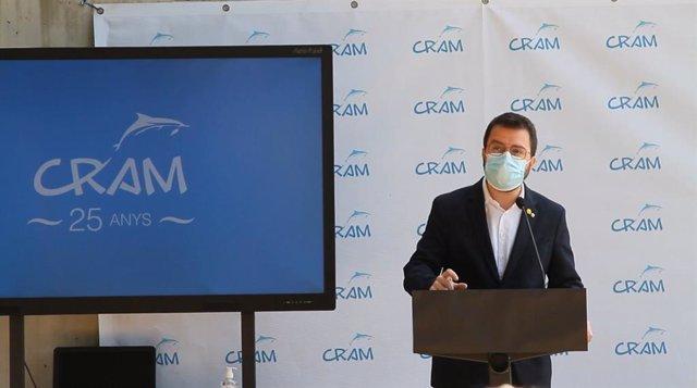 El vicepresident de la Generalitat, Pere Aragonès, en el 25è aniversari de la fundació Cram