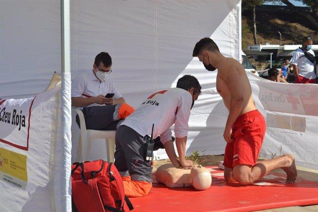 Creu Roja realitza proves de selecció de socorristes