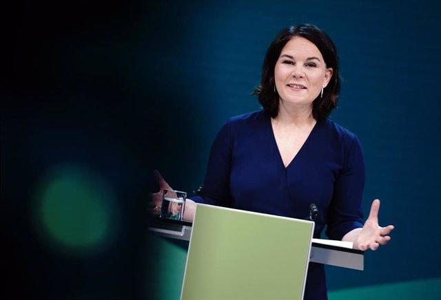 La candidata a canciller de Los Verdes, Annalena Baerbock