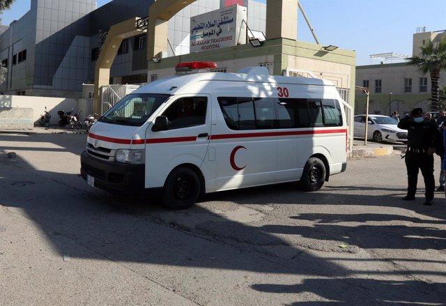 Una ambulancia en Irak