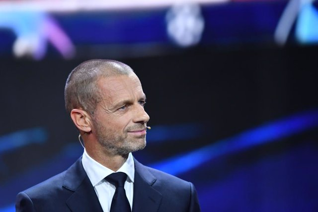 Archivo - HANDOUT - 01 October 2020, Switzerland, Geneva: UEFA President Aleksander Ceferin attends the UEFA Champions League 2020-21 group stage draw. Photo: Harold Cunningham/UEFA/dpa - ATTENTION: editorial use only in connection with the latest coverag