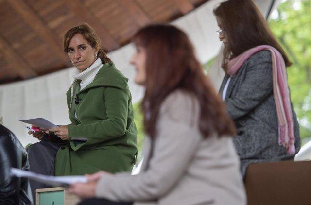 La candidata de Más Madrid a la Presidencia de la Comunidad de Madrid, Mónica García, durante el acto 'Mujeres con Mónica'