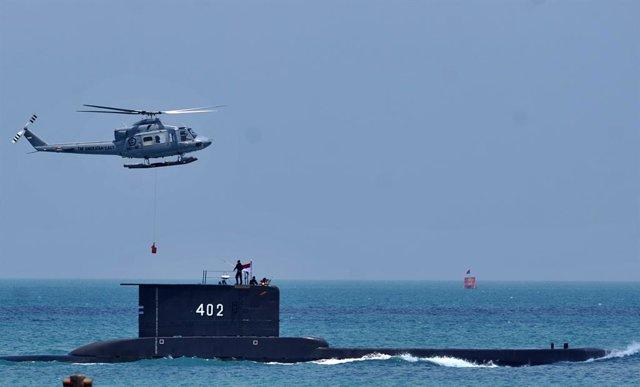 Imagen de archivo del submarino indonesio 'KRI Nanggala 402', hundido el 21 de abril de 2021 con 53 marinos a bordo