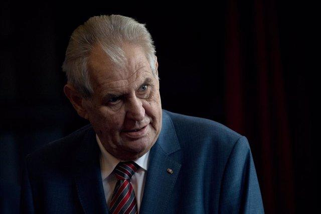 Archivo - El presidente checo, Milos Zeman.