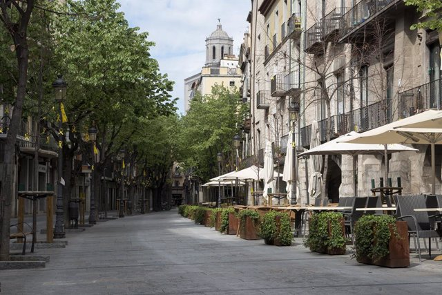 Archivo - Arxiu - Calle Pont de Pedra de Girona
