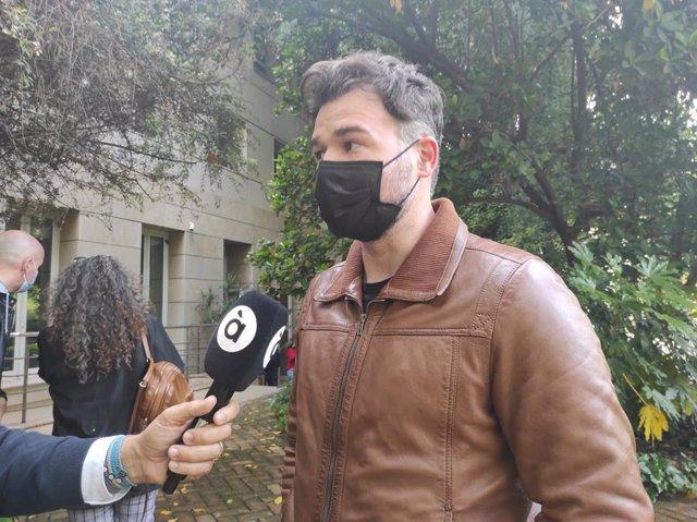El portaveu d'Esquerra Republicana al Congrés dels Diputats, Gabriel Rufián, aquest diumenge a València