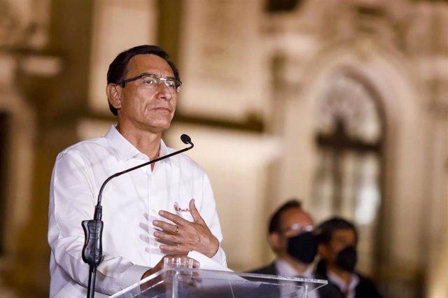 Archivo - El ahora expresidente peruano Martín Vizcarra.