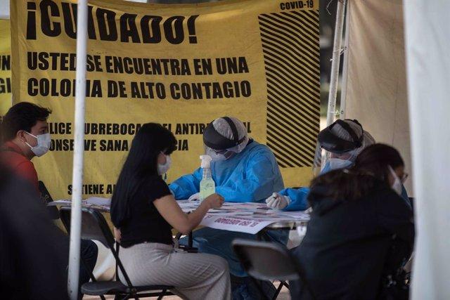 Pruebas de detención de la COVID-19 en México.