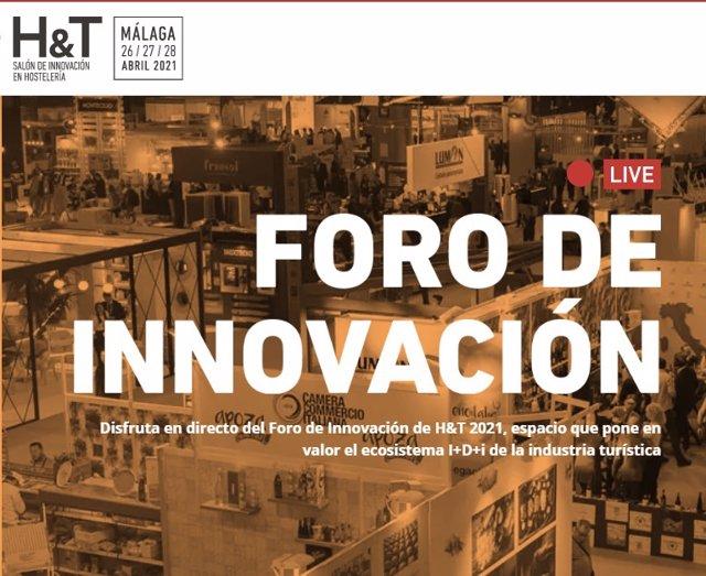 Cartel del H&T, Salón de Innovación y Hostelería en Málaga.