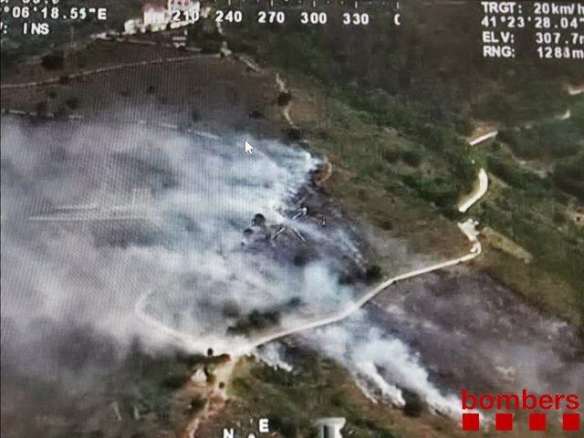 Imatge de l'incendi de Collserola (Barcelona).