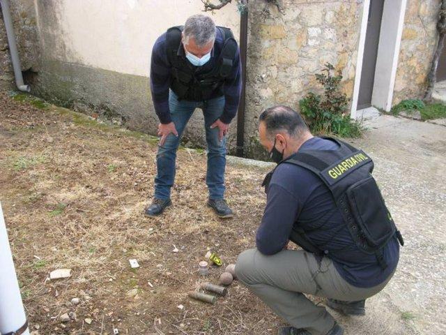 Destruidos explosivos de la Guerra Civil en Viana de Duero (Soria).