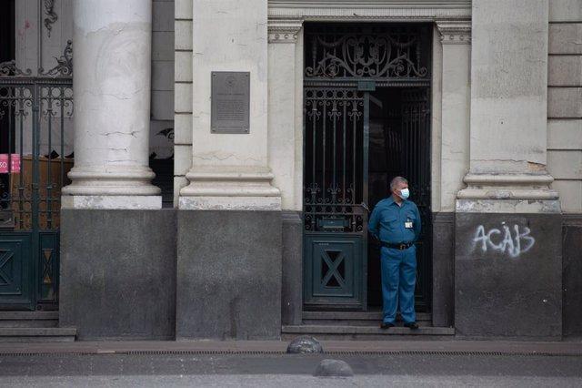 Santiago de Chile durante la última cuarentena decretada por el Gobierno por el repunte de contagios