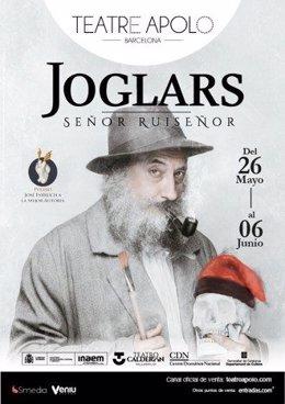 Cartell de 'Señor Ruiseñor' d'Els Joglars al Teatre Apolo.