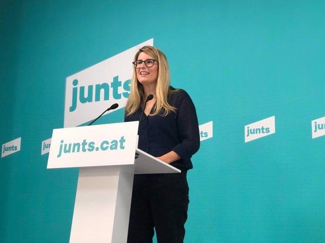 La portavoz de Junts, Elsa Artadi.