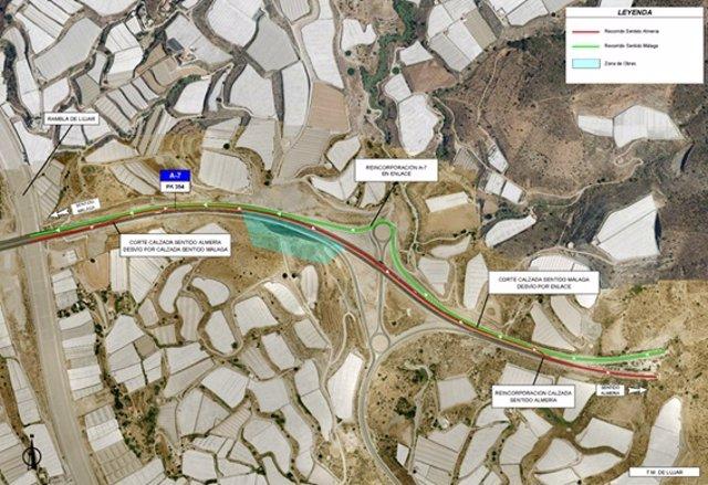 Archivo - Restablecido el tráfico en el tramo de la A-7 afectado por un deslizamiento el pasado marzo en Granada