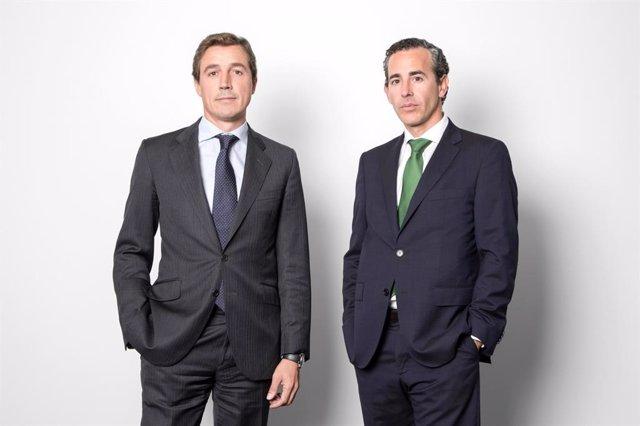 Archivo - Fernando Bernad y Álvaro Guzmán de Lázaro, codirectores de inversión  de Azvalor